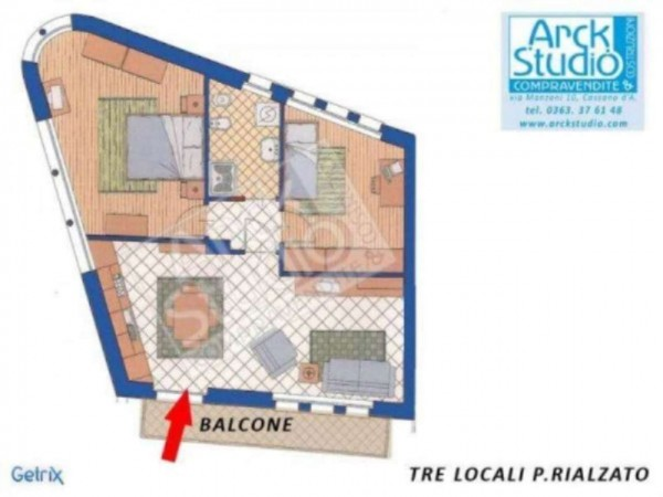 Appartamento in vendita a Cassano d'Adda, 80 mq - Foto 13