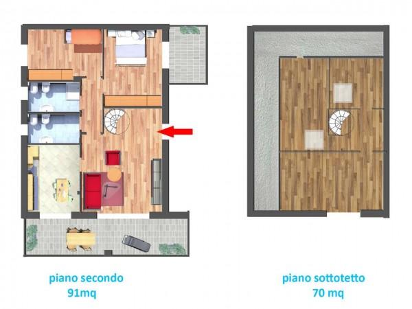 Appartamento in vendita a Cassano d'Adda, Naviglio, 166 mq - Foto 13