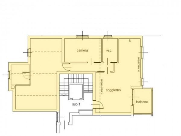 Appartamento in vendita a Cassano d'Adda, Castello, 120 mq - Foto 12