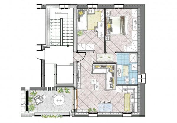 Appartamento in vendita a Cassano d'Adda, Naviglio, 85 mq