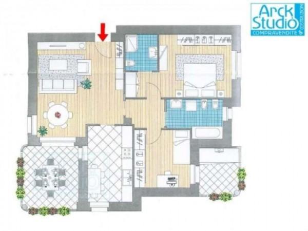 Appartamento in vendita a Cassano d'Adda, Con giardino, 111 mq - Foto 16