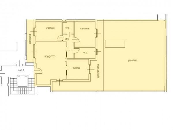 Appartamento in vendita a Cassano d'Adda, Centro Storico, Con giardino, 111 mq - Foto 13