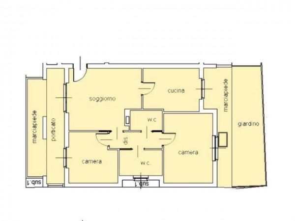 Appartamento in vendita a Cassano d'Adda, Centro Storico, Con giardino, 111 mq - Foto 12
