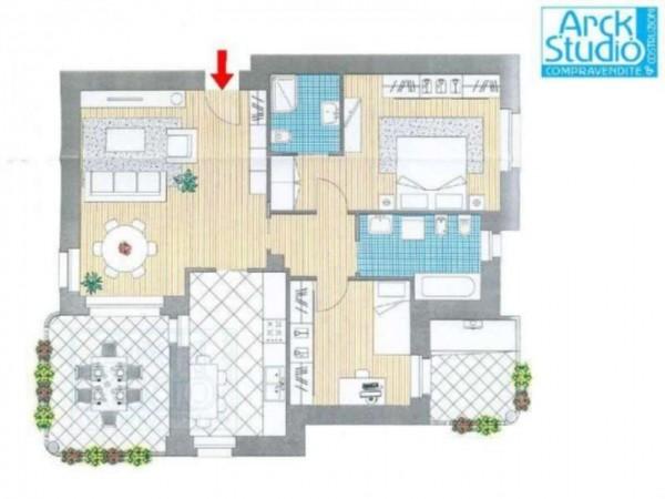 Appartamento in vendita a Cassano d'Adda, Con giardino, 114 mq - Foto 2