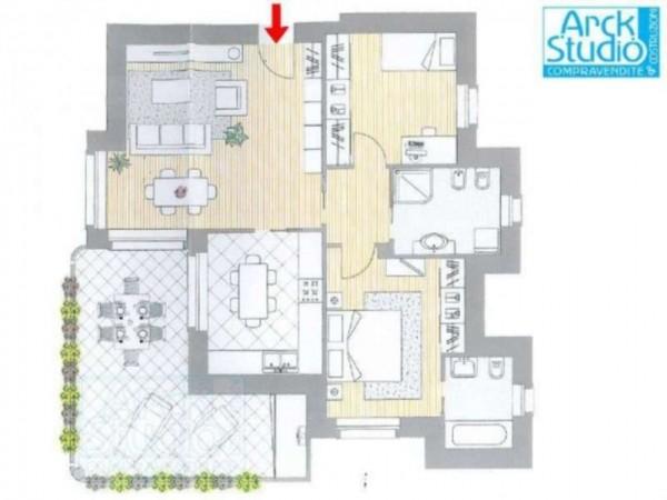 Appartamento in vendita a Cassano d'Adda, Con giardino, 114 mq - Foto 3