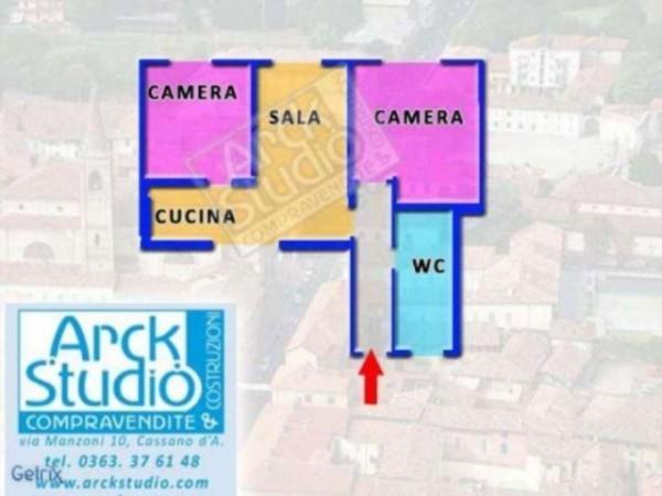 Appartamento in vendita a Cassano d'Adda, Arredato, 80 mq - Foto 2