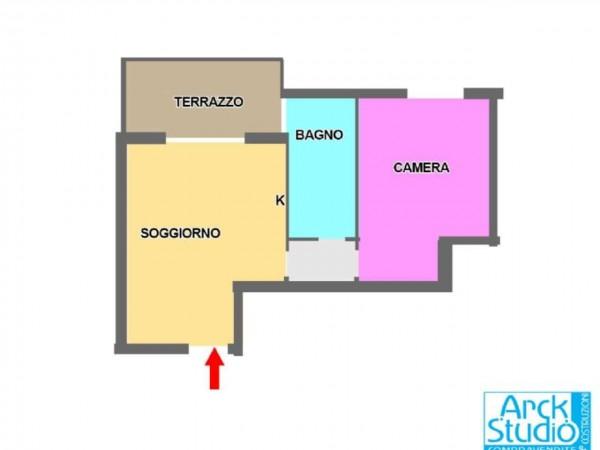 Appartamento in vendita a Cassano d'Adda, Con giardino, 64 mq - Foto 2