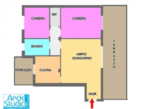 Appartamento in vendita a Cassano d'Adda, Con giardino, 105 mq - Foto 2