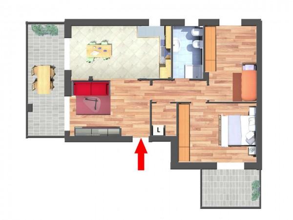Appartamento in vendita a Cassano d'Adda, Con giardino, 93 mq - Foto 6