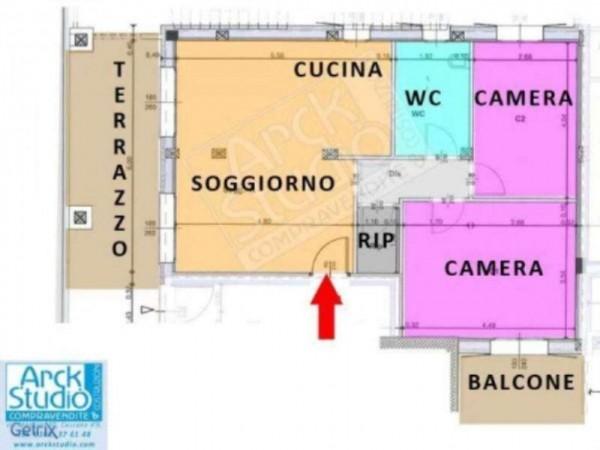 Appartamento in vendita a Cassano d'Adda, Con giardino, 93 mq - Foto 5