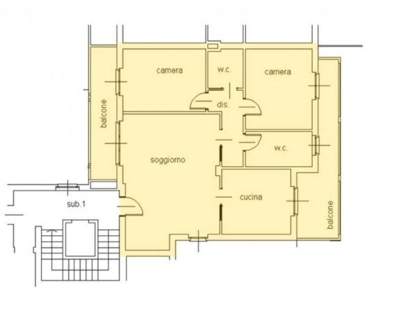 Appartamento in vendita a Cassano d'Adda, Centro Storico, Con giardino, 123 mq