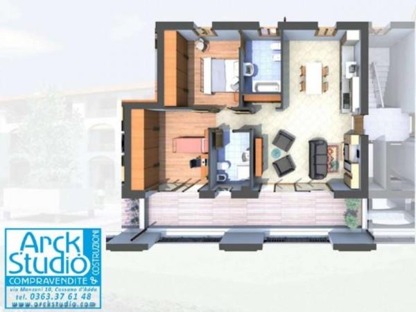Appartamento in vendita a Cassano d'Adda, Naviglio, 109 mq