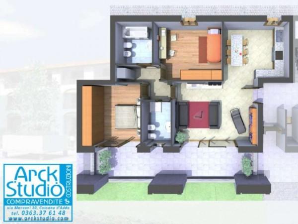 Appartamento in vendita a Cassano d'Adda, Naviglio, 109 mq - Foto 13
