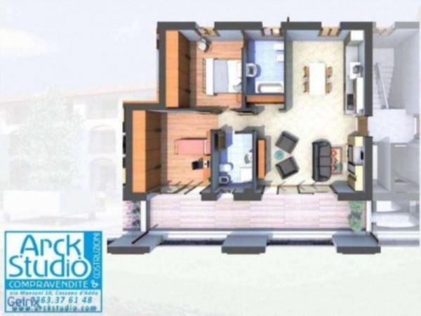 Appartamento in vendita a Cassano d'Adda, Con giardino, 105 mq - Foto 5
