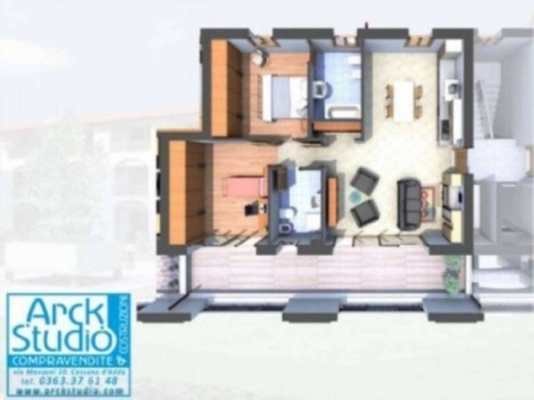 Appartamento in vendita a Cassano d'Adda, Con giardino, 105 mq - Foto 17