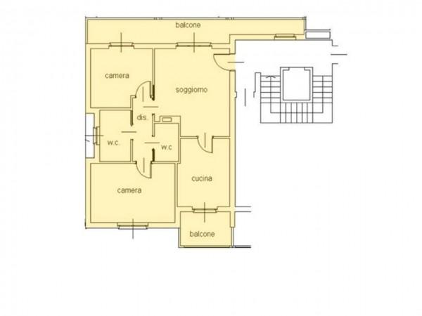 Appartamento in vendita a Cassano d'Adda, Castello, 100 mq - Foto 12