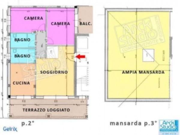 Appartamento in vendita a Cassano d'Adda, Con giardino, 166 mq - Foto 5