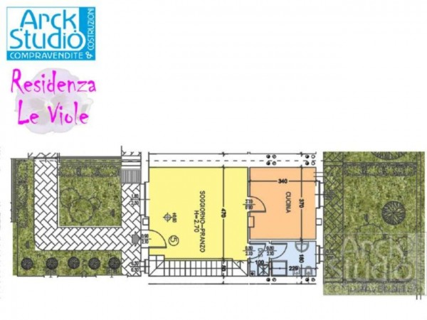 Villetta a schiera in vendita a Cassano d'Adda, Con giardino, 148 mq - Foto 17
