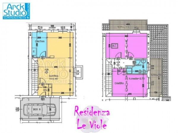 Villetta a schiera in vendita a Cassano d'Adda, Con giardino, 148 mq - Foto 3