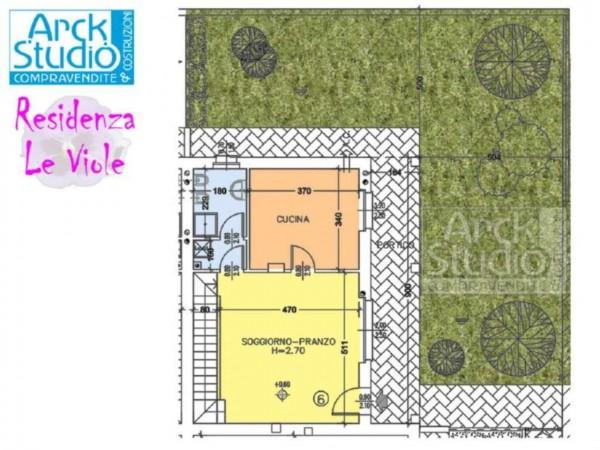 Villetta a schiera in vendita a Cassano d'Adda, Con giardino, 148 mq - Foto 2