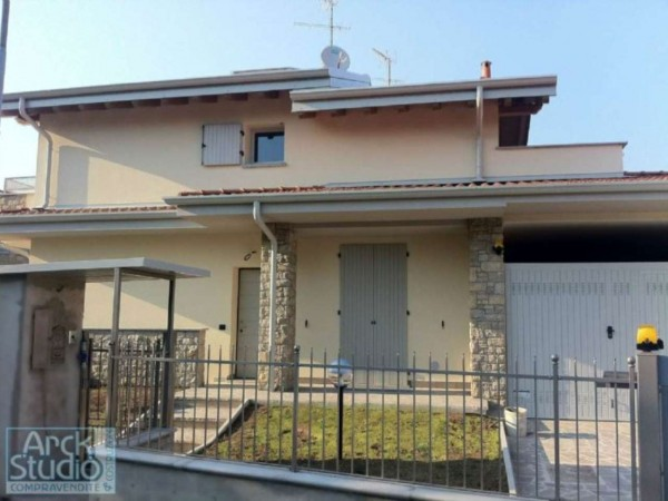 Villetta a schiera in vendita a Cassano d'Adda, Con giardino, 148 mq - Foto 7