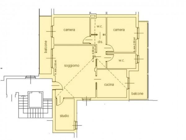 Appartamento in vendita a Cassano d'Adda, Centro Storico, 140 mq - Foto 7