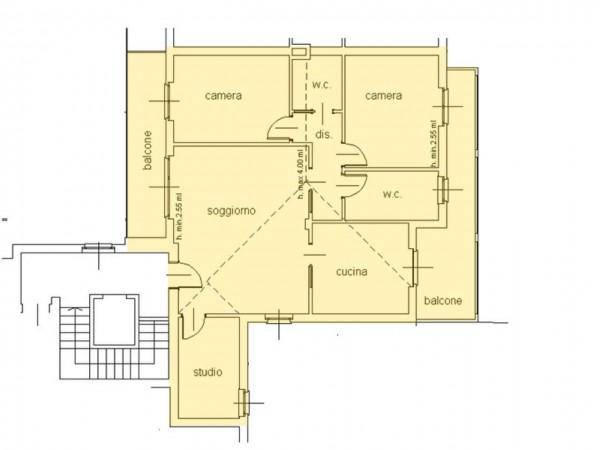 Appartamento in vendita a Cassano d'Adda, Centro Storico, 140 mq - Foto 5