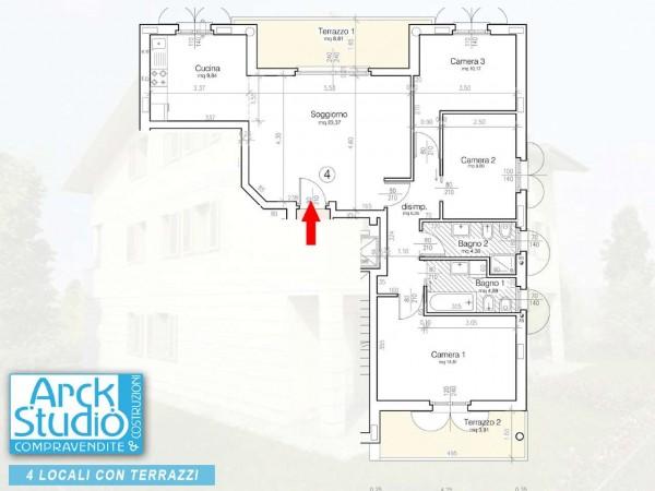 Appartamento in vendita a Cassano d'Adda, Vallette, 121 mq