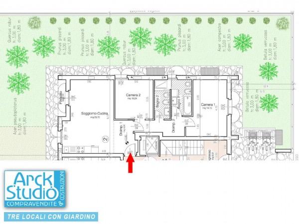 Appartamento in vendita a Cassano d'Adda, Vallette, Con giardino, 115 mq