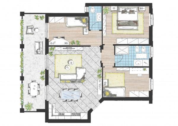 Appartamento in vendita a Pozzo d'Adda, Con giardino, 115 mq - Foto 3