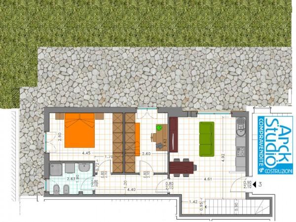 Appartamento in vendita a Fara Gera d'Adda, Via Crederi, Con giardino, 124 mq