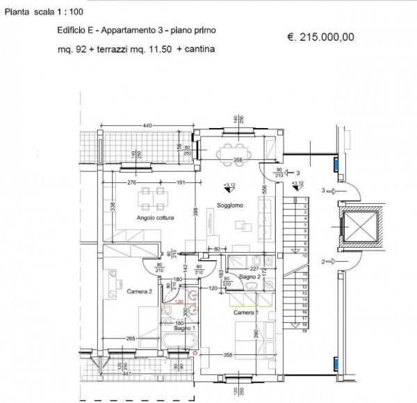 Appartamento in vendita a Caronno Pertusella, Centro Storico, Con giardino, 95 mq - Foto 8