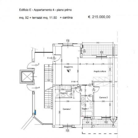 Appartamento in vendita a Caronno Pertusella, Centro Storico, Con giardino, 95 mq - Foto 7
