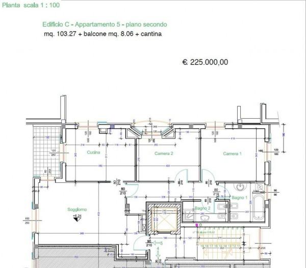 Appartamento in vendita a Caronno Pertusella, 104 mq - Foto 8