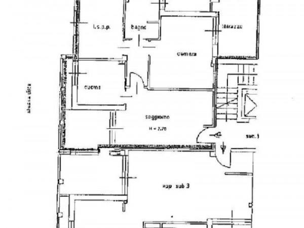 Appartamento in vendita a Bollate, Stazione Fnm, 85 mq - Foto 2