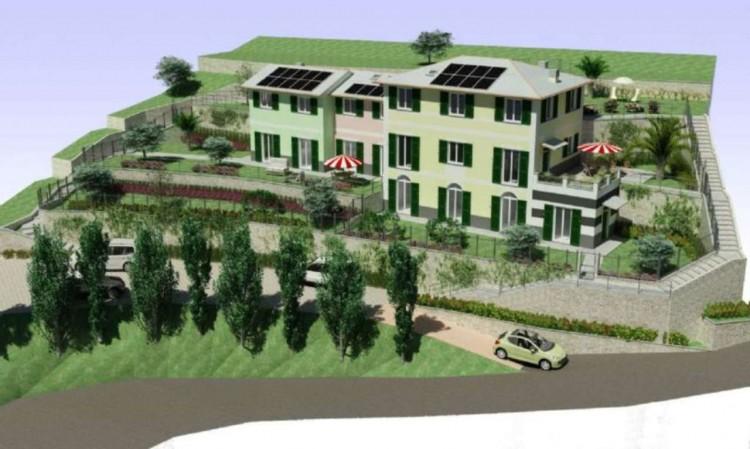 Appartamento in vendita a Rapallo, Ronco Costaguta, Con giardino, 156 mq - Foto 1