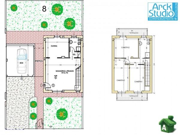 Villa in vendita a Cassano d'Adda, Groppello, Con giardino, 160 mq - Foto 6