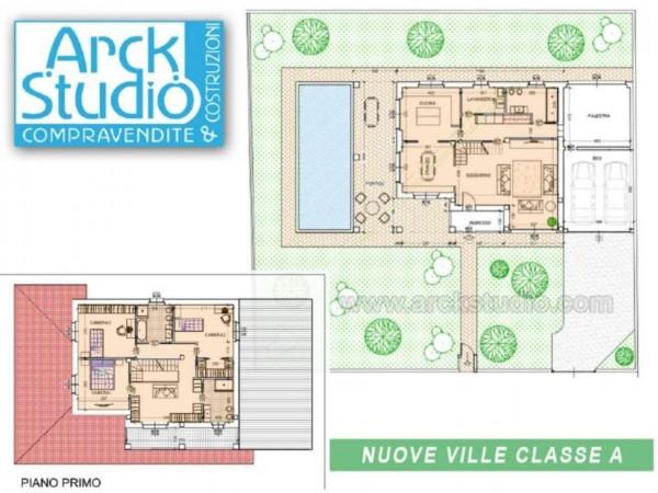 Villa in vendita a Cassano d'Adda, Groppello, Con giardino, 160 mq - Foto 9