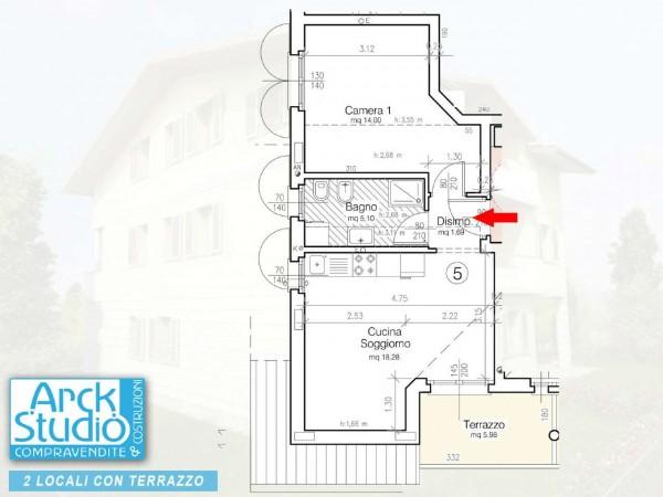 Appartamento in vendita a Cassano d'Adda, Vallette, 65 mq