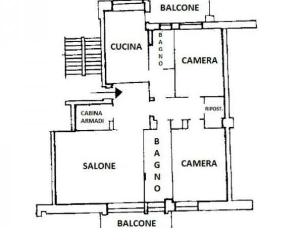 Appartamento in vendita a Torino, 145 mq - Foto 2