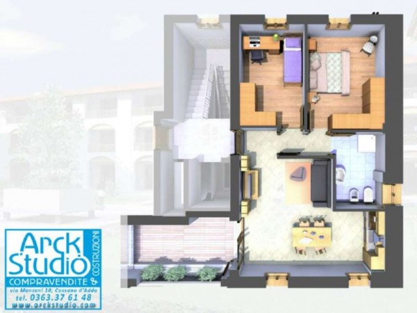 Appartamento in vendita a Cassano d'Adda, Con giardino, 80 mq - Foto 4