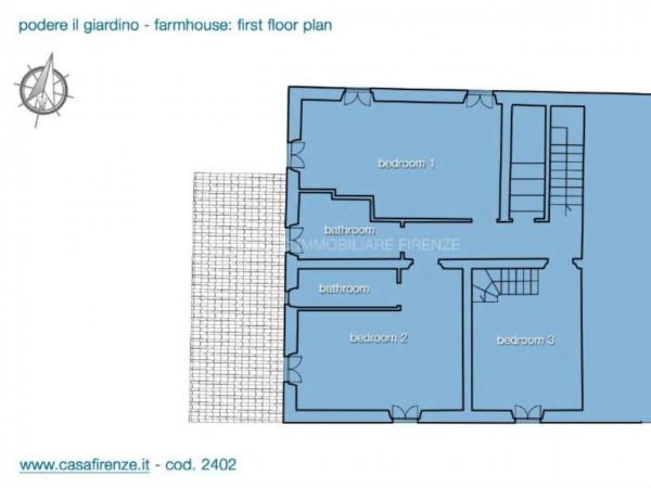 Rustico/Casale in vendita a Montespertoli, Con giardino, 230 mq - Foto 13