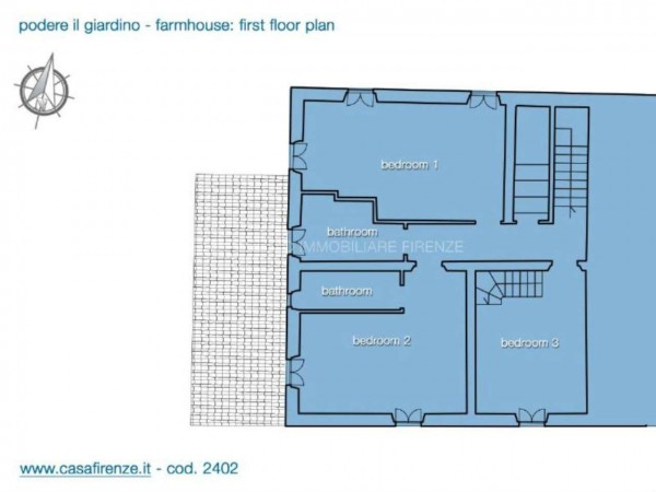 Rustico/Casale in vendita a Montespertoli, Con giardino, 230 mq - Foto 3