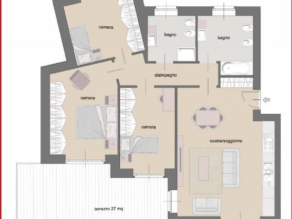 Appartamento in vendita a Torino, Cenisia, 110 mq - Foto 6