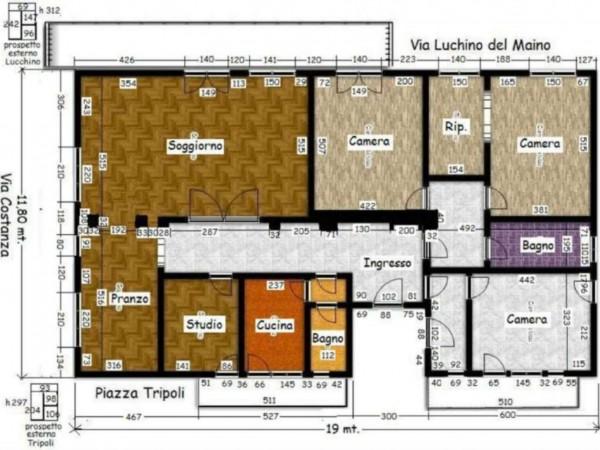Appartamento in vendita a Milano, Washington, 210 mq - Foto 20