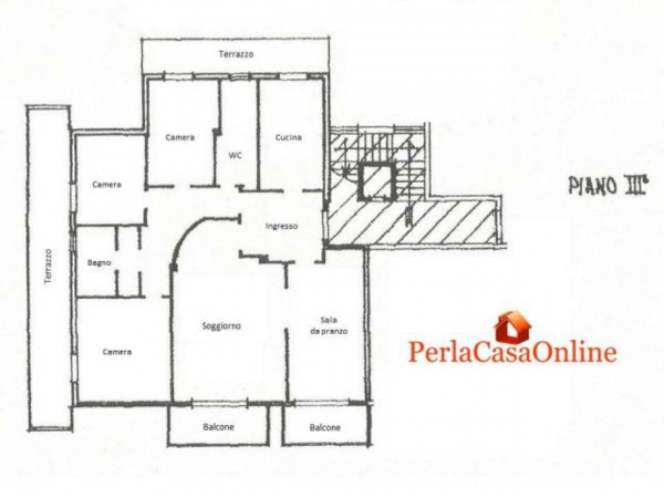 Appartamento in vendita a Forlì, Bolognesi, Con giardino, 140 mq - Foto 3
