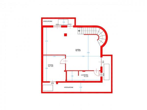 Villa in vendita a Cassano d'Adda, Naviglio, Con giardino, 250 mq - Foto 3
