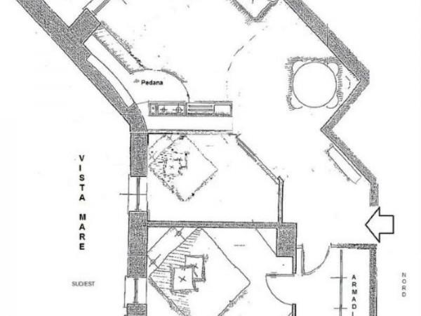 Appartamento in vendita a Rapallo, Punta Seglio, Arredato, con giardino, 77 mq - Foto 11