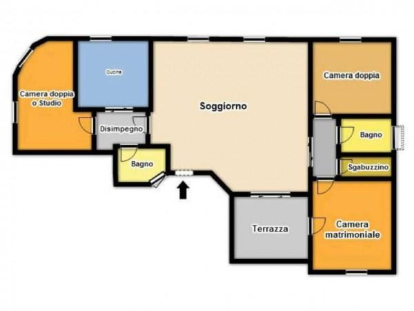 Appartamento in vendita a Brescia, Piazzale Cesare Battisti, 160 mq - Foto 3