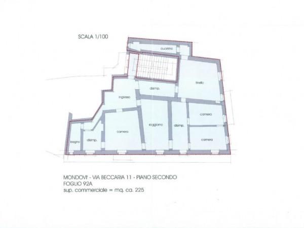 Appartamento in vendita a Mondovì, Breo, 220 mq - Foto 3